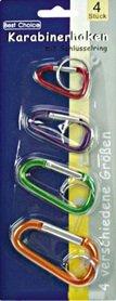 10 Packungen bunte Karabinerhaken # verschiedene Größen (s.u.) # mit Schlüsselringen (1) (10)