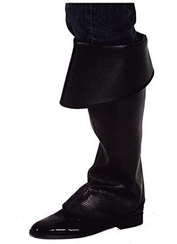 M202308 schwarz Herren Stulpen Siefelstulpen Gamaschen (Königs Knecht Kostüm)
