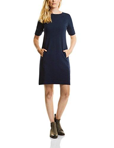 CECIL Damen Kleid 140529, Blau (Deep Blue 10128), XX-Large (Lange Linie Feine Ärmel)
