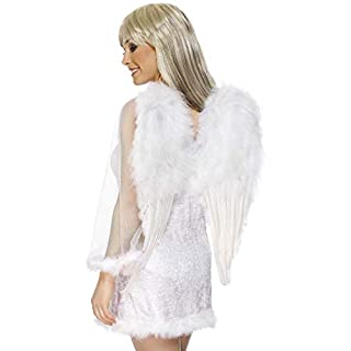 Smiffys Wings Feather Angel - White
