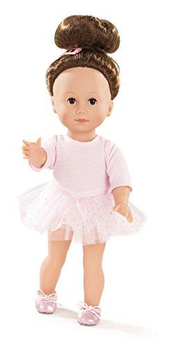 Götz 1613025 Just like me - Giuseppina als Ballerina - 27 cm große Stehpuppe mit braunen Haaren und braunen Schlafaugen - für Kinder ab 3 Jahren