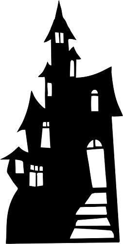 ant de la fête Deco Halloween Aufkleber Wandaufkleber Schloss'hante Auto manoir ()