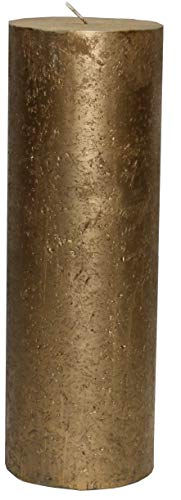 Nein Kerze Gold Metallic Stumpenkerze 300 x 100 mm Gold