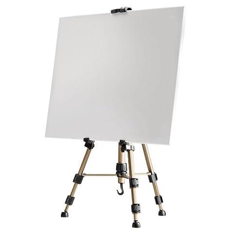 Walimex Chevalet de peinture en aluminium 150cm (capacité de charge env. 10kg, incl. sac de transport) pour toiles de jusqu'à 74cm de
