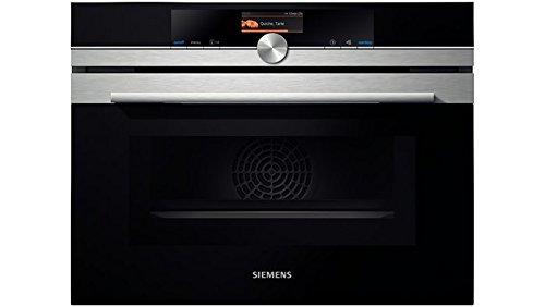 Siemens CM636GBS1 Intégré 45L 1000W Noir, Argent micro-onde - Micro-ondes (Intégré, 45 L, 1000 W, Tactil, Noir, Argent, TFT)