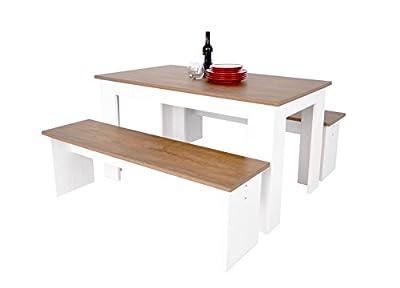 Kendal Dining Set Table & Bench Set