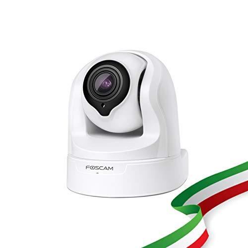 Foscam FI9926P Telecamera da interno WiFi con Zoom Ottico 4X PTZ con infrarossi compatibile con Alexa.