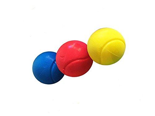 E-Deals, weiche Tennisbälle, 70 mm, inverschiedenen Farben, Pack of 3 Assorted Colours