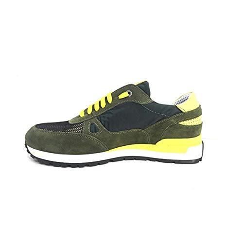Exton scarpe uomo sneaker loden in camoscio verde 993-camlod