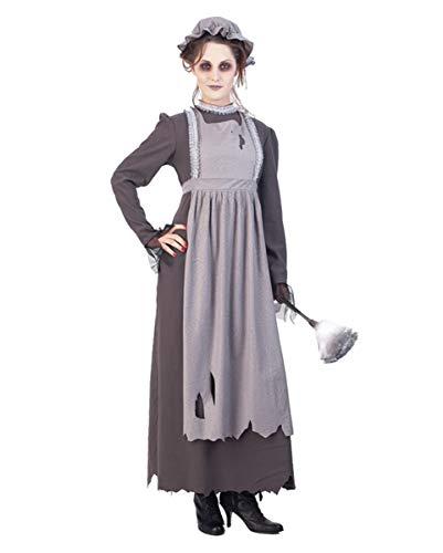 Horror-Shop Geister Dienstmädchen Kostüm als Halloween Verkleidung S