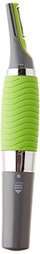 JML - Tagliapeli, regolatore MicroTouch con accessori e luce incorporata per naso, orecchie, ciglia, collo, basette e capelli