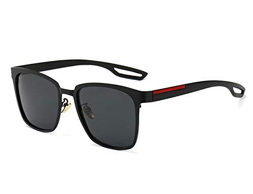 LKVNHP Brand Herren Sonnenbrille Polarized Square Schwarz Sonnenbrille Für Mann Fahren Designer Anti Reflect Uv400 Grau Schwarz Schwarz Schwarz
