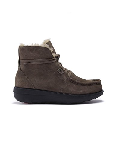 Fitflop Bottines à Lacets Loaff TM Lace Up Ankle Boot Shearling Bungee Cord Suede Sandow
