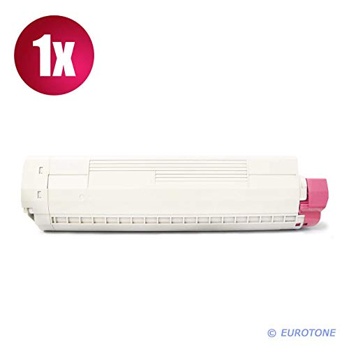 C830 Magenta Toner (1x Eurotone Toner für Oki C 810 830 CDTN DN N DTN ersetzt 44059106 Rot Magenta)