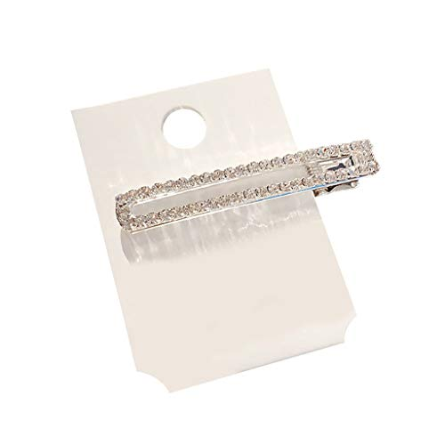 Lazzgirl Frauen Perle Diamant Haarspange Bobby Pin Haarband Haarnadel Haarspange Kamm Zubehör(W,One Size)