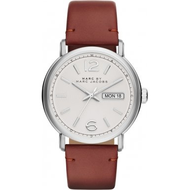 Marc by Marc Jacobs MBM5080 Mens Fergus Shiny Tan Calf Leather Strap Watch