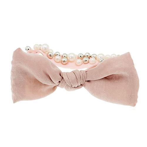 aimaoer Haargummi, Haarschleife, Kopfband, Schmetterlings-Krawatte, Haarpille,Sehne, Erwachsener Kopf Blumenmädchen Krawatte Haarschmuck, Rosa (Schleife) -