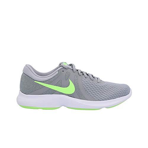 Nike Herren Revolution 4 EU Laufschuhe, Mehrfarbig (Wolf Grey/Lime Blast/Cool Grey/White 016), 43 EU
