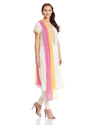 f875b6c25fe Biba 8907319155143 Womens Straight Salwar Suit Skd4923 White 36- Price in  India