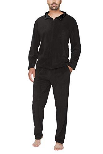 SLOUCHER Nicki-Anzug für Herren, Farbe:anthrazit, Größe:L