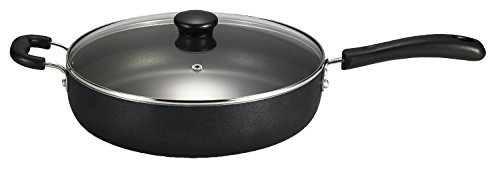Generic Specialty Nonstick Dishwasher Safe PFOA Free Jumbo Cooker Cookware with Glass Lid 5-Quart Black