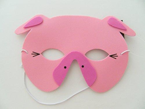 Maske Schwein f. Kindergeburtstag Karneval Fasching Tier Tiere Masken Theater Bauernhof Schweinchen