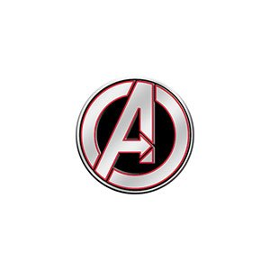 "AVENGERS LOGO, Officially Licensed Original Artwork, 1.125"" - Metal Sticker DECAL Autocollant"