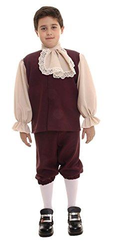 Colonial Boy Child Medium - Colonial Boy Kostüm Kind