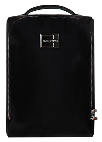 Sanctive SANCTIVE Schuhtasche Reise | Premium Herren Business Schuhbeutel: Wasserdicht und robust | Für 1 Paar Schuhe, schwarz