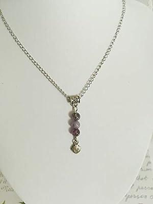 pendentif amethyste, pendentif pierres naturelles, pendentif protection, pendentif acier, pendentif fait mains, cadeau saint valentin
