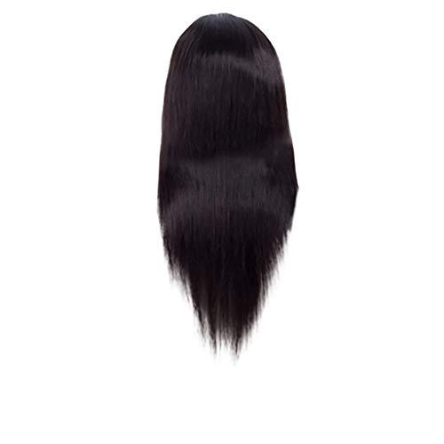 Liusdh wigs for women Europäische und amerikanische schwarze afrikanische vordere Spitze langes gerades Haar Perückenset(A,one size) (Women's Classic Beauty Kostüm)