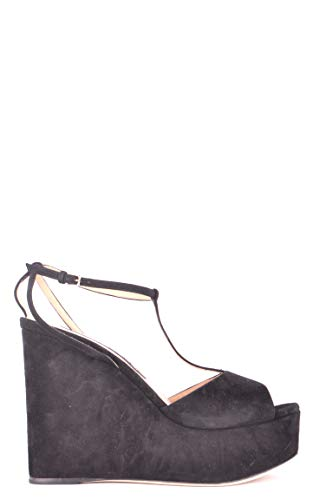 Sergio Rossi Femme MCBI505002O Noir Suède Chaussures Compensées