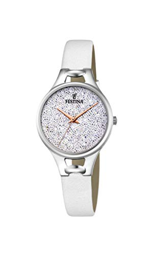 Festina Damen Analog Quarz Uhr mit Leder Armband F20334/1