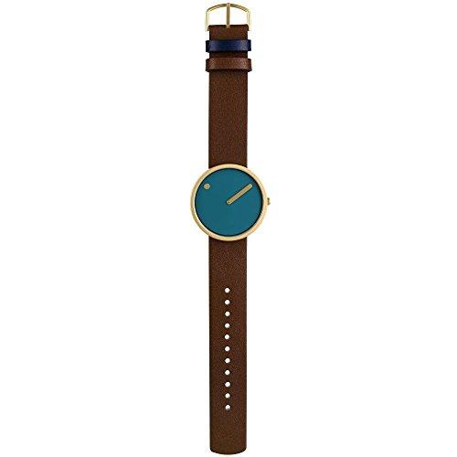 Rosendahl Unisex-Armbanduhr Picto Analog Quarz Leder 5709513433767