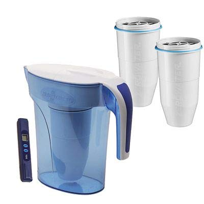2887b482b23 ZeroWater 5-Stage Water Filter Jug with Two Free Filters 1.7L
