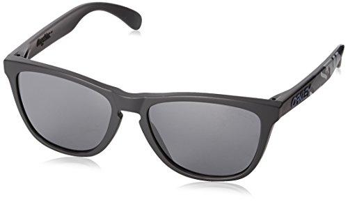 Oakley Unisex-Erwachsene Frogskins 24-420 55 Sonnenbrille, Schwarz (Matte Carbon/Black Iridium),