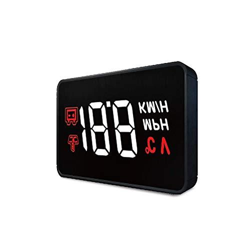 Fahrzeugelektronik Head Up Display Universal GPS Tacho 3,5 Zoll HUD Digitaler Autokompass mit Zigarettenanzünderanschluss, Geschwindigkeit, Kompass, Überdrehzahlalarm, KMH / MPH, Windschutzscheibenpro (Lkw-fahrer Gps)
