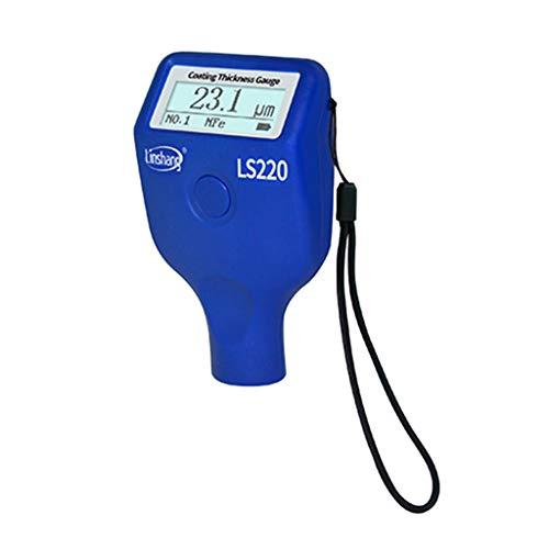 Brucelin - Misuratore di spessore digitale a ultrasuoni, misuratore di sonda NF2 Fe di 0,1 μm LS220 per vernice auto, 0-2000 μm