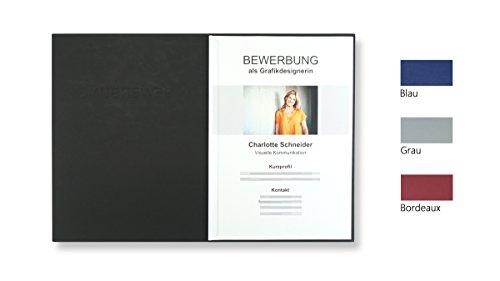 """8 Stück 2-teilige Bewerbungsmappen schwarz mit 1 Klemmschiene in feinster Lederstruktur // inkl. 8 Versandumschläge in weiß GRATIS // hochwertige Prägung """"BEWERBUNG"""" // direkt vom Hersteller STRATAG®"""