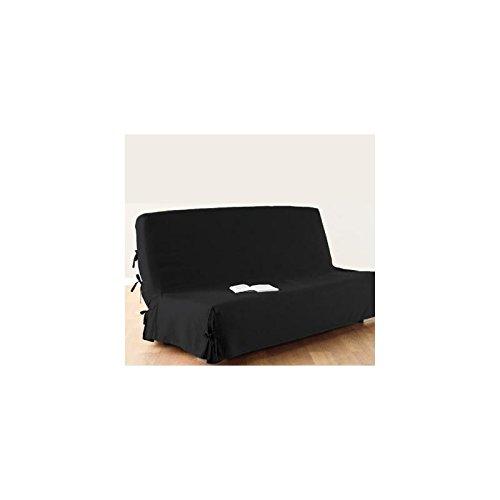 Funda de sofá cama clic-clac - 100% algodón - Color NEGRO
