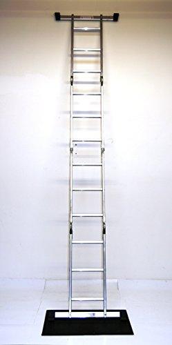 Alu-Gelenkleiter / Arbeitsleiter 4x3 Stufen / Sprossen ohne Plattform 330 cm, Aluminium, Marke: Szagato (Stehleiter, Anlegeleiter, Aluleiter, Kombileiter, Leiter)
