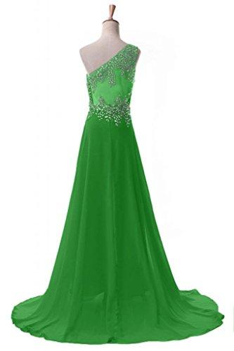 Sunvary elegante Chiffon una A-line spalla, per abiti da sera o da cerimonia, con diamanti Green