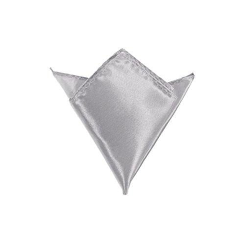 Vollter Combinaison homme carré Hanky mouchoir de poche Gris - Grey 2