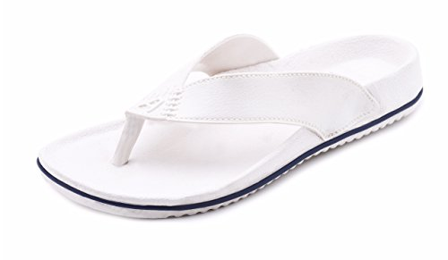 Aircum Men's White slipper -8  available at amazon for Rs.129