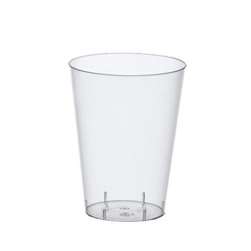 Papstar 12161 50-Trinkbecher, PS 0.4 Liter, Durchmesser 9 - 13 cm glasklar