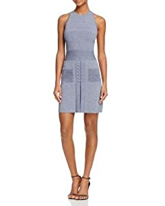 C/MEO COLLECTIVE Womens Blue Pocketed Sleeveless Jewel Neck Above The Knee Sheath Dress Size: S