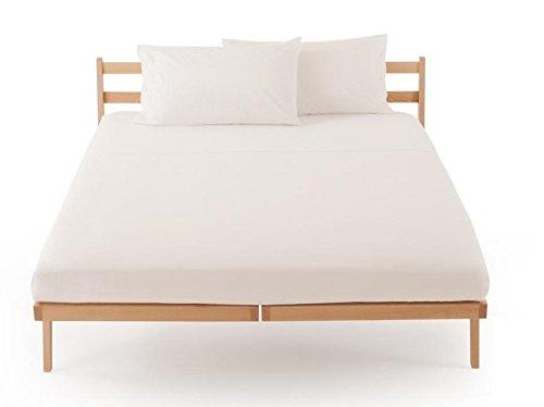 Lenzuolo sotto con angoli zucchi clic clac percalle di puro cotone letto una piazza e mezza cm 125 x 200 100% made in italy (bianco - 1000)