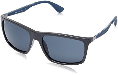 Ray-ban - Mod. 4228  - Lunettes De Soleil Homme, taille 58 SHINY GREY (SHINY GREY)
