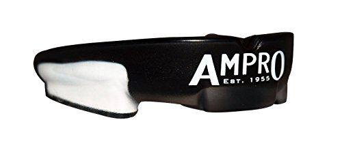 Ampro Choque Armour Protector bucal - Negro / Blanco, boxeo, rugby, MM