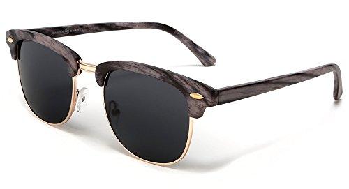 Sonnenbrille Clubmaster Verspiegelt UV400 Retro Vintage Damen Herren Farbvariation